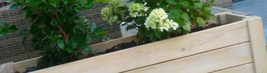 Hartholz pflanzkübel