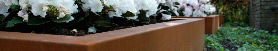 Cortenstahl pflanzkübel