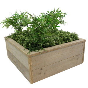Pflanzkübel aus Gerüstholz