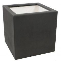 Enjoyplanter 60x60x60 cm. Velvet - antraciet zwart - mat