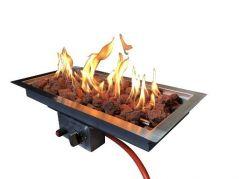 Enjoyfires inbouwbrander 30-60 brandend