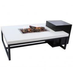 Enjoyfires vuurtafel ambiance 120x80 zwart wit