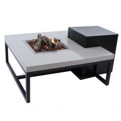Enjoyfires vuurtafel Ambiance zwart grijs 90x90 cm.