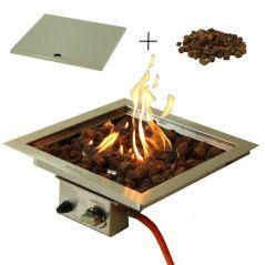 Sparkly Fire Einbaubrenner 40x40 cm