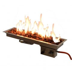 Sparkly fire inbouwbrander 65x19 cm.