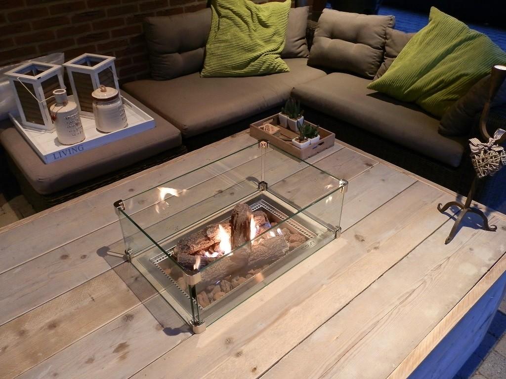 Een Warme Winter : Enjoyfires beschermhoes voor vuurtafel vierkant 124x84x60cm